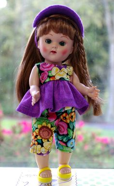 PuRPLe GaRDeN...a 3 Piece Outfit for 7.5 Vogue Ginny Dolls by KarmelApples #ETSY