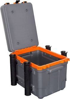 Kayak Storage Box Wilderness Systems Kayak Krate - Sophisticate your tankwell storage with the Wilderness Systems Kayak Krate. The main compartment accommodates large gear and tackle boxes while secondary lid storage stows smaller items. Kayak Storage Rack, Fishing Rod Storage, Lid Storage, Crate Storage, Wilderness Systems, Wilderness Survival, Survival Prepping, Kayak Crate, Pelican Kayak