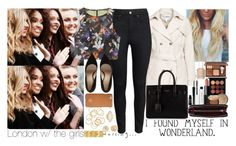 """London w/ Little Mix."" by insanenyc ❤ liked on Polyvore featuring H&M, Yves Saint Laurent, Essie, MAC Cosmetics, Bobbi Brown Cosmetics, NARS Cosmetics, Lord & Berry, Too Faced Cosmetics, Zagliani and Tory Burch"