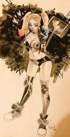 joker e harley quinn Harley Quinn Drawing, Harley Quinn Comic, Harley Quinn Cosplay, Comic Books Art, Comic Art, Harely Quinn, Arte Dc Comics, Superhero Villains, Gotham Girls