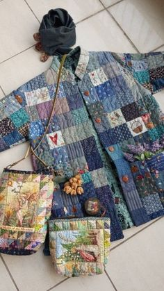 Quilted Clothes, Sewing Clothes, Make Your Own Clothes, Beaded Jacket, Coat Patterns, Fashion Sewing, Dressmaking, Textiles, Plaid Scarf