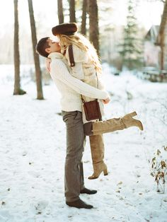 Winter snow engagement shoot | Olga Plakitina Photography | see more on: http://burnettsboards.com/2014/12/romantic-russian-winter-engagement-editorial/