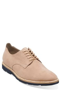 Clarks® Originals Clarks® 'Gambeson Walk' Leather Plain Toe Derby (Men) available at #Nordstrom