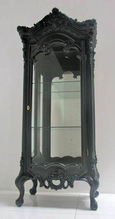 gothic curio cabinet