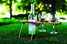 Picnic Time : Mesavino Portable Wine and Snack Table