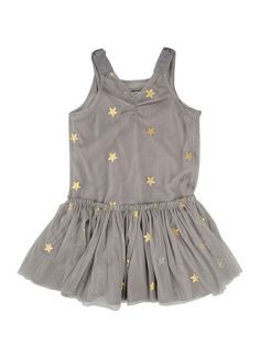 Stella McCartney Bell Girls Tulle Star Dress - Gray - oh baby! Stella Mccartney Kids, Stella Mccartney Dresses, Outfits Niños, Kids Outfits, Little Girl Fashion, Kids Fashion, Belle Dress, Dresses Kids Girl, Baby Dresses