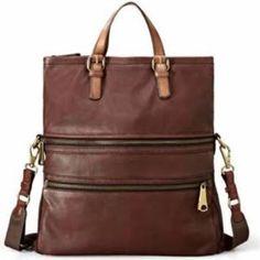 1c523bc04be Fossil Explorer Leather Tote In Espresso Louis Vuitton Handbags