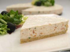Tarta de queso con salmón y lima | Recetas Thermomix | MisThermorecetas