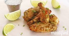 GF Jalapeño-Lime Chicken Wings with Paleo Ranch Dressing from Meatified Stupid Easy Paleo - Easy Paleo Recipes