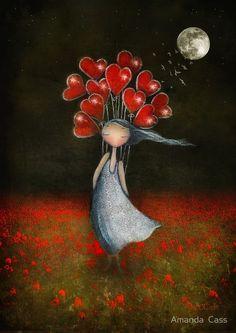 Risultati immagini per amanda cass illustrations Art Fantaisiste, Artist Art, Finding Neverland, Illustration Art, Illustrations, Heart Art, Whimsical Art, Decir No, Amanda
