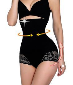 f009073ec56 Gotoly Antibacterial Comfort Pants Butt Lifter Shapers Panties Hi-Waist  Thigh Slimming (M L