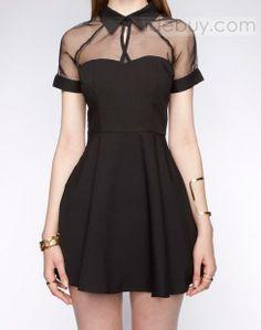 Elegant Lapel Short Sleeves Chiffon Dress : Tidebuy.comhttp://www.tidebuy.com/product/Elegant-Lapel-Short-Sleeves-Chiffon-Dress-10872898.html