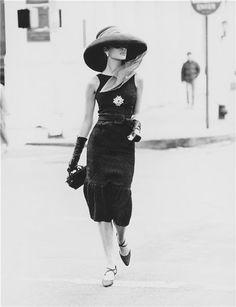 classic little black dress in the 60's!  Sheath styling ...statement jewelry...trending yet again now! #LittleBlackDress #Fashion