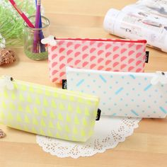 Cute Kawaii jelly glue geometry Pencil Case Pencil Bag For Kids Gift school supplies Free Shipping 4104
