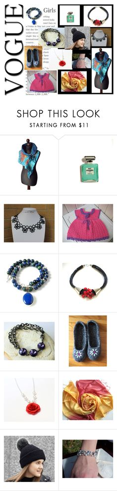 """""""VogueGirls"""" by penandhook ❤ liked on Polyvore featuring Chanel, Lazuli and Hostess"""