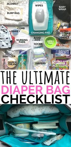 The ultimate diaper bag checklist. How to pack the perfect diaper bag for babies and toddlers. A must have list of essentials to keep you prepared for any outing. Perfect for new moms! - Diapers - Ideas of Diapers Diaper Bag Checklist, Diaper Bag Essentials, Baby Checklist, Eddie Bauer, Baby Must Haves, Bag Sewing, My Bebe, Nursing Pads, Disposable Diapers