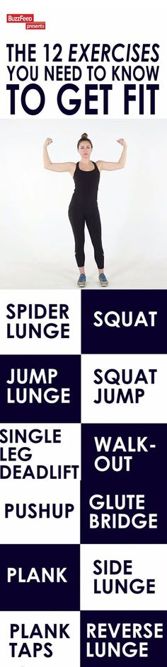 .12 EXERCISES TO CHANGE YOUR LIFE: Gym memberships can be expensive but you can do any of these 12 exercises to get a full body workout where ever you are with no equipment.