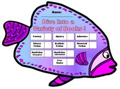 """This """"Dive Into Reading"""" sticker chart set includes this Angel Fish template, plus these additional 10 other fish templates:   Jelly Fish, Moray Eel, Puffer Fish, Snail, Turtle,  Butterfly Fish, Clown Fish, Sea Horse, Sea Snake, and Sting Ray."""