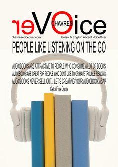 Να γιατί να μετατρέψεις το βιβλίο σου σε ηχητικό audiobook | CHAVRES Free Quotes, People Like, Audio Books, Let It Be