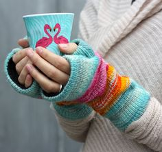 FINGERLESS HAND WARMERS Gloves Knitted Lined by ROCOCOaccessories