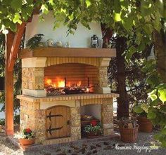 """Outstanding """"built in grill patio"""" detail is readily available on our website. Take a look and you wont be sorry you did. Pizza Oven Outdoor, Outdoor Kitchen Bars, Outdoor Kitchen Design, Patio Grill, Backyard Patio, Outdoor Fire, Outdoor Living, Design Barbecue, Brick Bbq"""