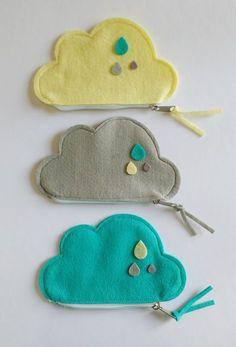 DIY rainbow hair pins