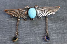Victorian+Egyptian+Revival+Double+Headed+by+TheHiddenChamber,+$48.00