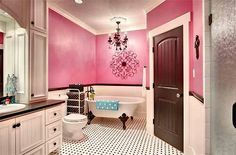 Pink And Brown Bathroom Decor