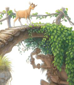 The Littlest Billy Goat and the Troll, from Three Billy Goats Gruff -- illustrated by Scott Gustafson