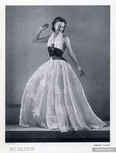 Robert Piguet 1939 Evening Gown, Fashion Photography Kandar.