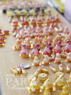 SIMP preview - miniature French pastries in one inch scale