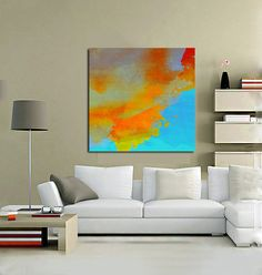 colorful canvas wall art abstract painting watercolor print on canvas extra large wall art oversize canvas print custom size