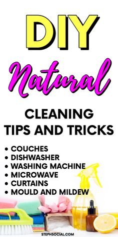 Don't Miss A Spot With The Help Of My Sneaky Spring Cleaning Checklist! Spring Cleaning Schedules, Deep Cleaning Checklist, Deep Cleaning Tips, Steam Cleaning, Natural Cleaning Products, Cleaning Hacks, Cleaning Calendar, Diy Products, Clean Washing Machine