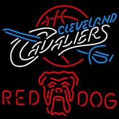 Red Dog Cleveland Caveliers NBA Neon Beer Sign, Red Dog with NBA | Beer with Sports Signs. Makes a great gift. High impact, eye catching, real glass tube neon sign. In stock. Ships in 5 days or less. Brand New Indoor Neon Sign. Neon Tube thickness is 9MM. All Neon Signs have 1 year warranty and 0% breakage guarantee.