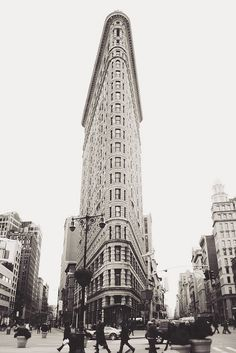 NYC - The Flat Iron Building. This print hangs in my Scrapbook room.