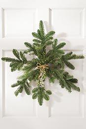 winter + christmas   evergreen snowflake wreath
