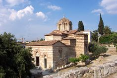 The three largest in size churches of Greece (all orthodox) are : The cathedral of Saint Apostol Andreas , the First person who was called by the Lord . Mother Of Christ, 11th Century, Athens, Worship, Taj Mahal, Greece, Around The Worlds, Mansions, House Styles