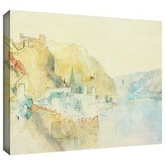 ArtWall William Turner 'On The Rhine' Gallery-wrapped Art