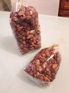 recette de chouchous maison, cacahuètes enrobées de caramel