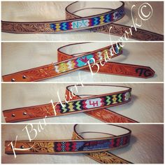 Custom made beaded belts. Beaded inlaid.   K bar heart beadwork  Www.facebook.com/kbarheartbeads   Cowboy beadwork. Beaded belt. Beadwork. Loom. Seed beads. Cowboy beads.