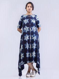 Ecru Indigo Organic Cotton Lyra Dress