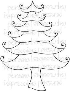 Zendoodles-arbol-de-Navidad-Transparente-Craft-Sello-zentangle-zentangling-zendoodle