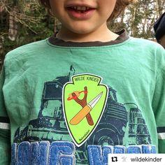 #Repost @wildekinder  Say it loud: WE WEAR IT PROUD!  Die Kids lieben sie die Sticker. #aufkleber #wildekinder #naturkinder