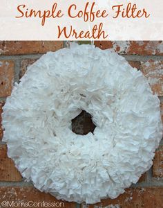 Coffee Filter Wreath...Super easy, fun and inexpensive craft project to this weekend!