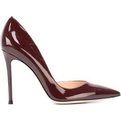Gianvito Rossi Biba Pumps (2.265 RON) ❤ liked on Polyvore featuring shoes, pumps, heels, red, red pumps, red shoes, high heels stilettos, patent leather pointed toe pumps ve heels stilettos