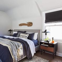 Master Bedroom Refresh with Emily Henderson and Parachute Home. Including the Living Spaces Dean Charcoal King Upholstered Bed and the Charlize Heather Coal Rug. Guest Bedroom Decor, Home Bedroom, Master Bedroom, Bedrooms, Bedroom Ideas, Guest Rooms, Best Gray Paint Color, Neutral Paint, Bedroom Paint Colors