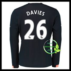 Fotballdrakter Everton Langermet DAVIES #26 Bortedraktsett 2016-2017 Everton, Graphic Sweatshirt, T Shirt, Premier League, Sweatshirts, Long Sleeve, Sleeves, Sweaters, Mens Tops