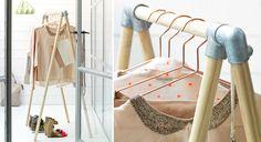 """Léger et pratique, ce vestiaire en bois brut et métal trouvera sa place dans une entrée ou une chambre, qui s'ancre parfaitement dans la tendance """"factory"""" du moment. Découvrez ..."""