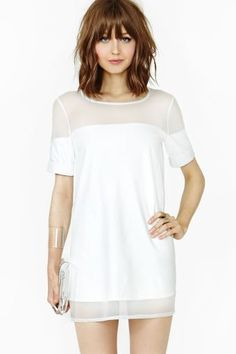 White short dress with transparencies