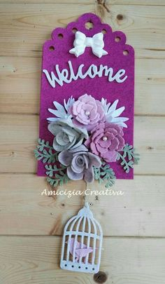 Diy Arts And Crafts, Felt Crafts, Crafts For Kids, Diy Crafts, Handmade Felt, Handmade Crafts, Felt Flowers, Paper Flowers, Shabby Chic Crafts